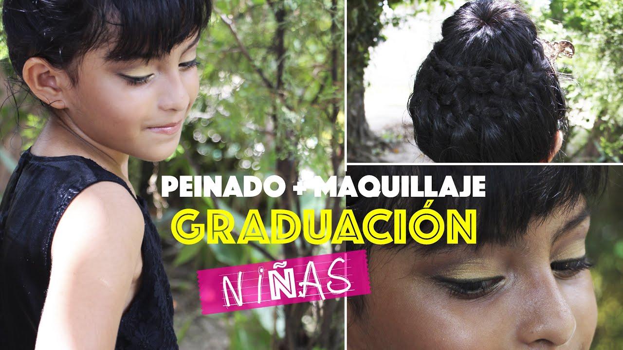 Peinado Y Maquillaje Para Niñas Graduación Cualquier Color De Vestido Viernesconkarla