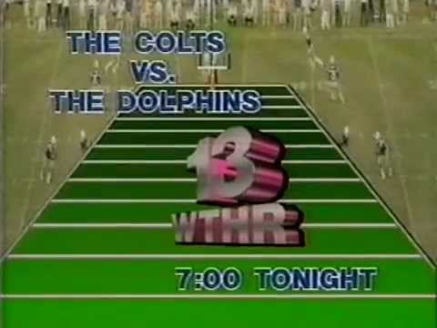 August 1984 - Promo for Indianapolis Colts/Miami Dolphins Preseason Game