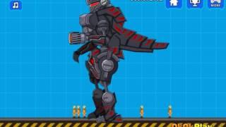 Мультик игра Роботы динозавры: Черный тиранозавр (Robot Dinosaur Black T-Rex H5)