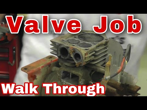 how to fix a stuck valve on a small engine