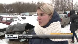 Шок-урок на кладбище битых автомобилей  устроили курсантам автошкол Нижнего Новгорода