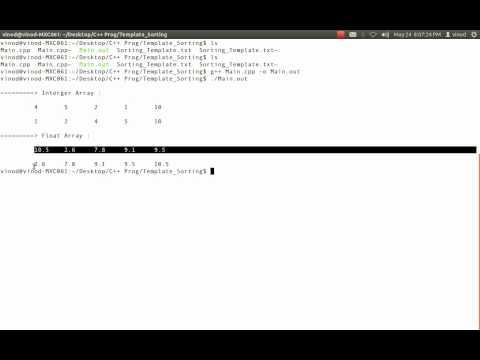 C++ Template Sorting