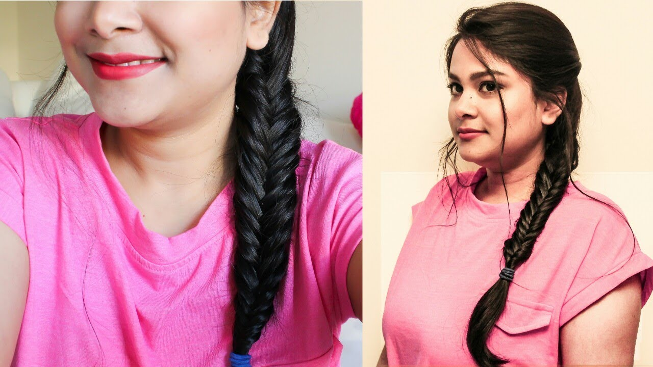 Easy Everyday Hairstyle In Hindi Quick Hairstyle For College