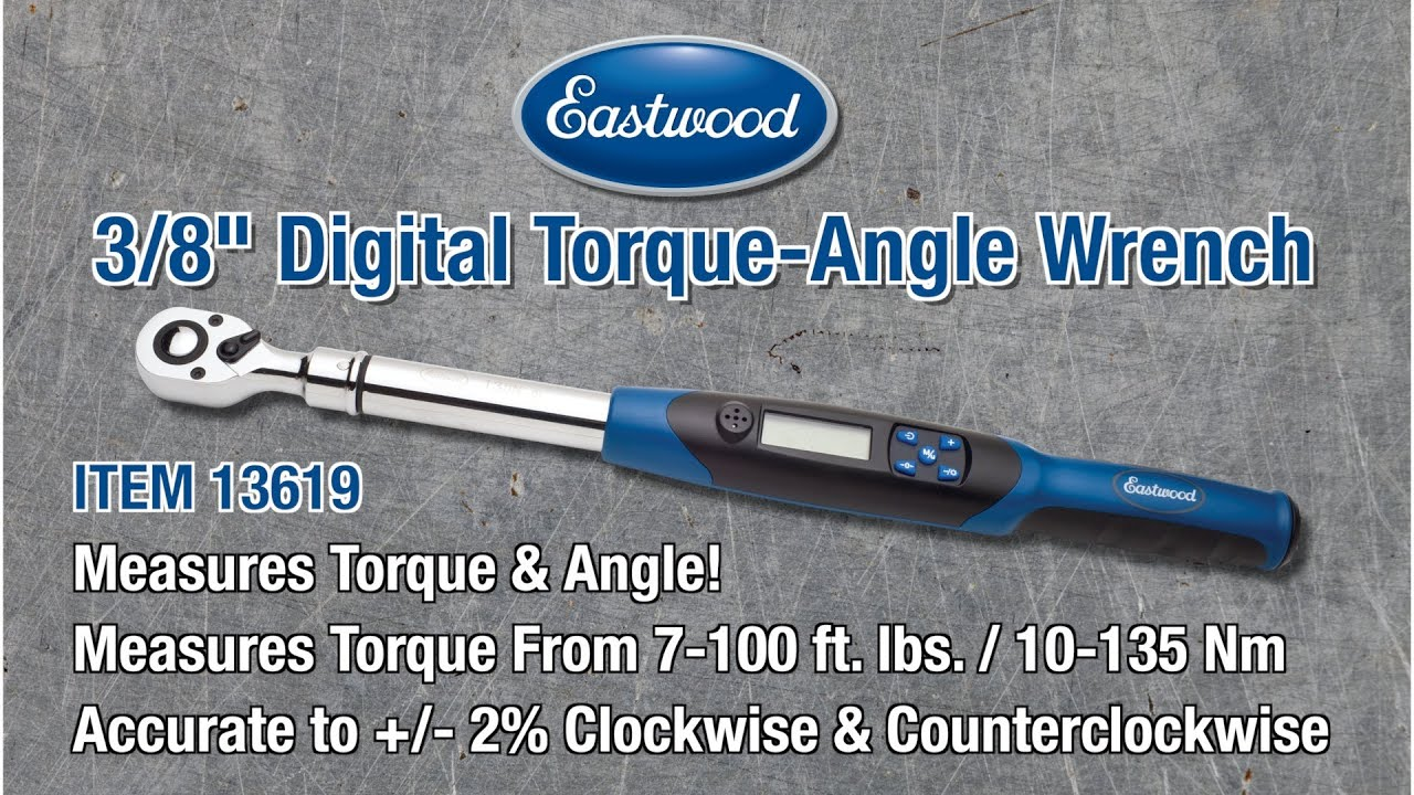 "Electronic Torque Wrench >> 3/8"" Torque-ANGLE Wrench - Digital Electronic with Kevin Tetz from Eastwood - YouTube"