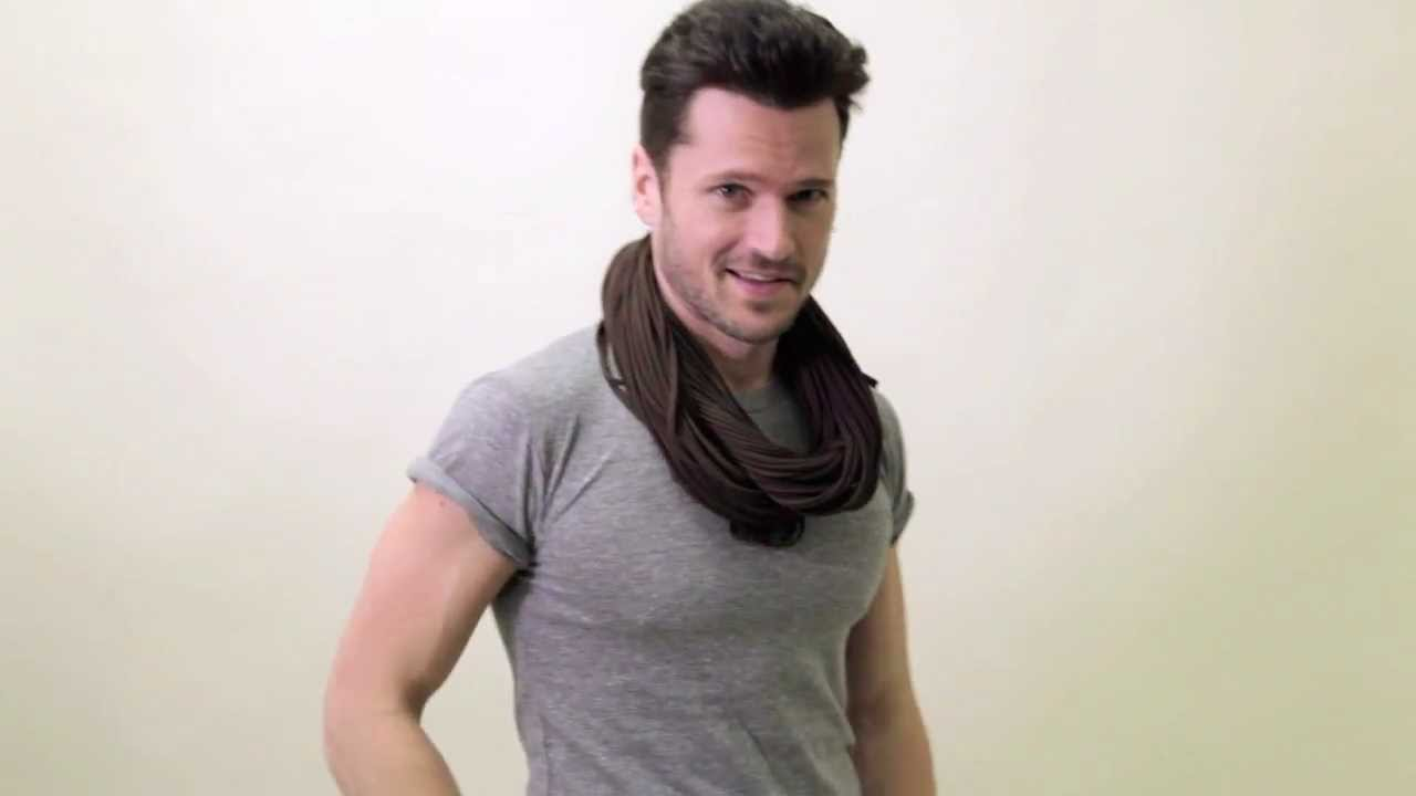 Mens Brown Infinity Scarf / Womens Circle Scarves ...