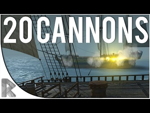THIS SHIP HAS 20 CANNONS! - Blackwake Pre-Alpha Gameplay