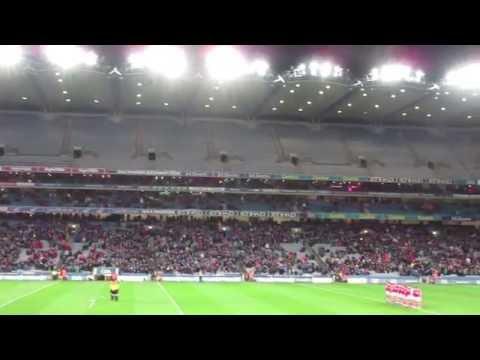 Amhrán na bhFiann - National Anthem of the Republic of Ireland - Croke Park