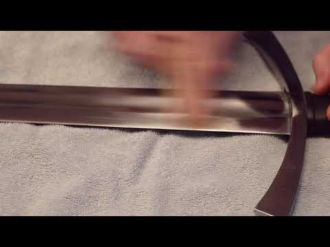 Removing Rust from Sword with 1500 Sandpaper