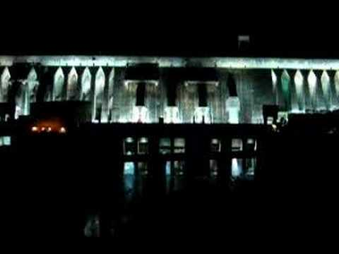 Illumination of the Itaipu dam
