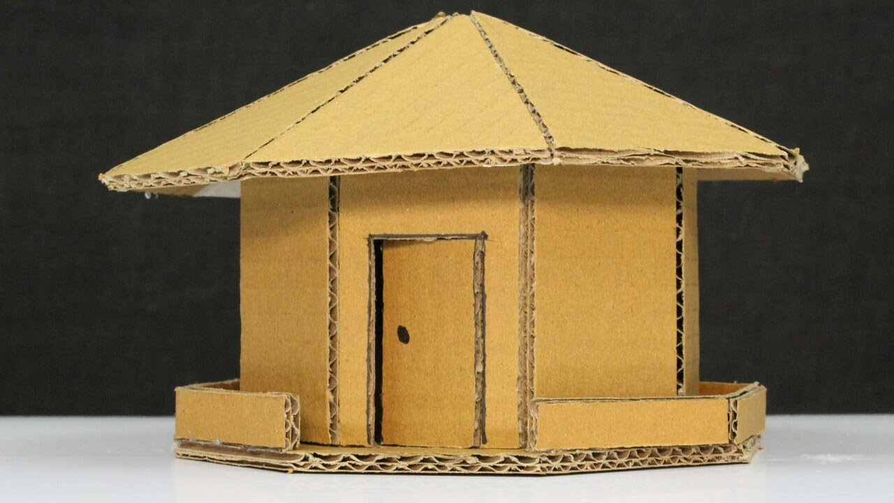 How to make a simple cardboard house youtube for Creating a minimalist home