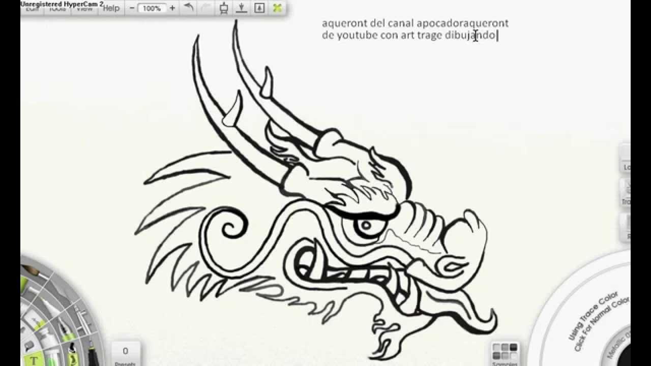 Hermosa Cabeza De Dragón Chino Para Colorear Ornamento - Ideas Para ...