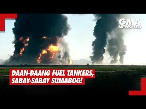 Daan-daang fuel tankers sa Afghanistan, sabay-sabay sumabog! | GMA News Feed