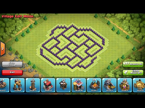 Clash of Clans- Town hall 8 farming base (The Vortex)