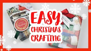 Make Gorgeous GIFT BOXES With Just ONE 5 x 7 GREETING CARD!!  🎄🎄Perfect STOCKING STUFFER Size🎄🎄
