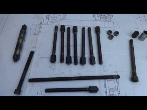 Как сделать  самодельные шпильки крепления ГБЦ 21083 вместо заводских болтов .