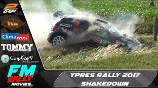 Ypres rally 2017 | SHAKEDOWN + QUALIFYING STAGE | Onboard + sortie [HD]