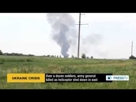 About 14 soldiers, army general killed as helicopter shot down in Ukraine