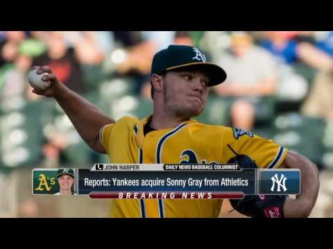 New York Yankees acquire Sonny Gray from the Oakland A's