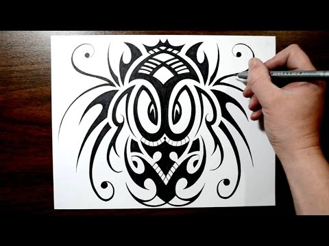 Drawing a Tribal Inspired African Mask Design