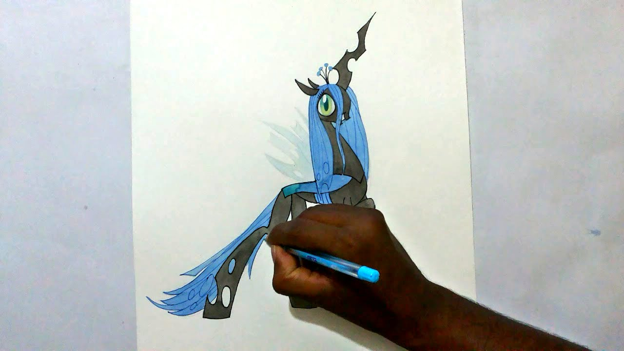 How To Draw My Little Pony Queen Chrysalis YouTube