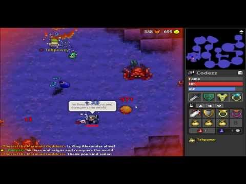 Rotmg - Ocean Trench Montage, Dieing Thessal, double white bag