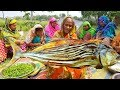 Do You Know This Giant Fish Name? Dry Fish Vegetables Mixed Dry Curry Cooking By Women