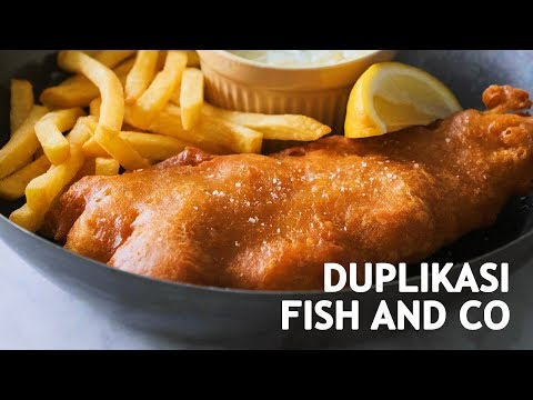 RESEP FISH AND CHIPS - NGALAHIN ENAKNYA FISH AND CO?!