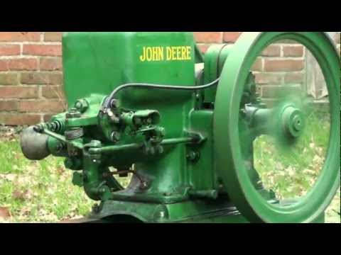 John Deere Model E 1 1/2 hp Hit and Miss engine: Start and Run