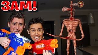 DO NOT HAVE A NERF WAR WITH SIREN HEAD AT 3AM!!! (FROM MINECRAFT!)