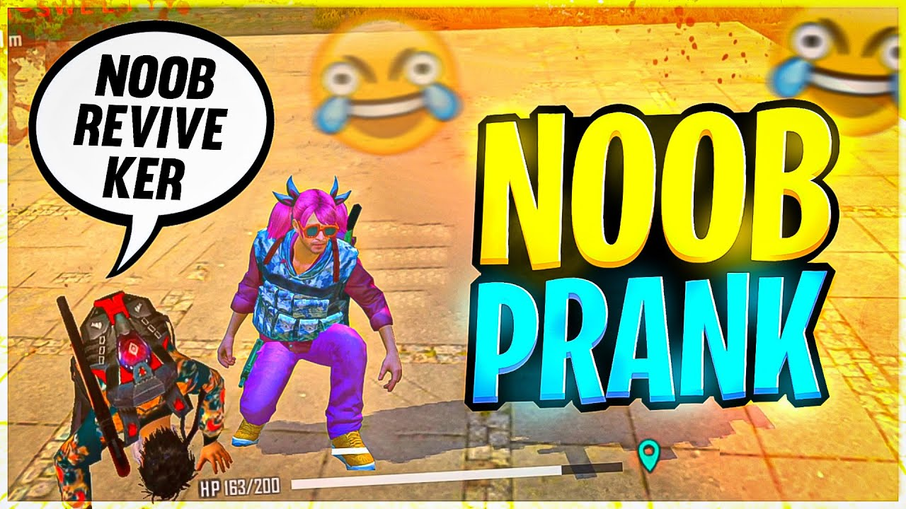 Noob Prank with Random Players 😂 must watch - Garena Free Fire