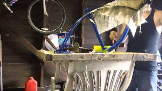 How to fill in a lowrider bike frame without welding ...PART 1