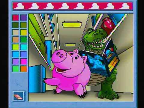 - Techno Source Toy Story Interactive Coloring Book Plug & Play TV Game -  YouTube