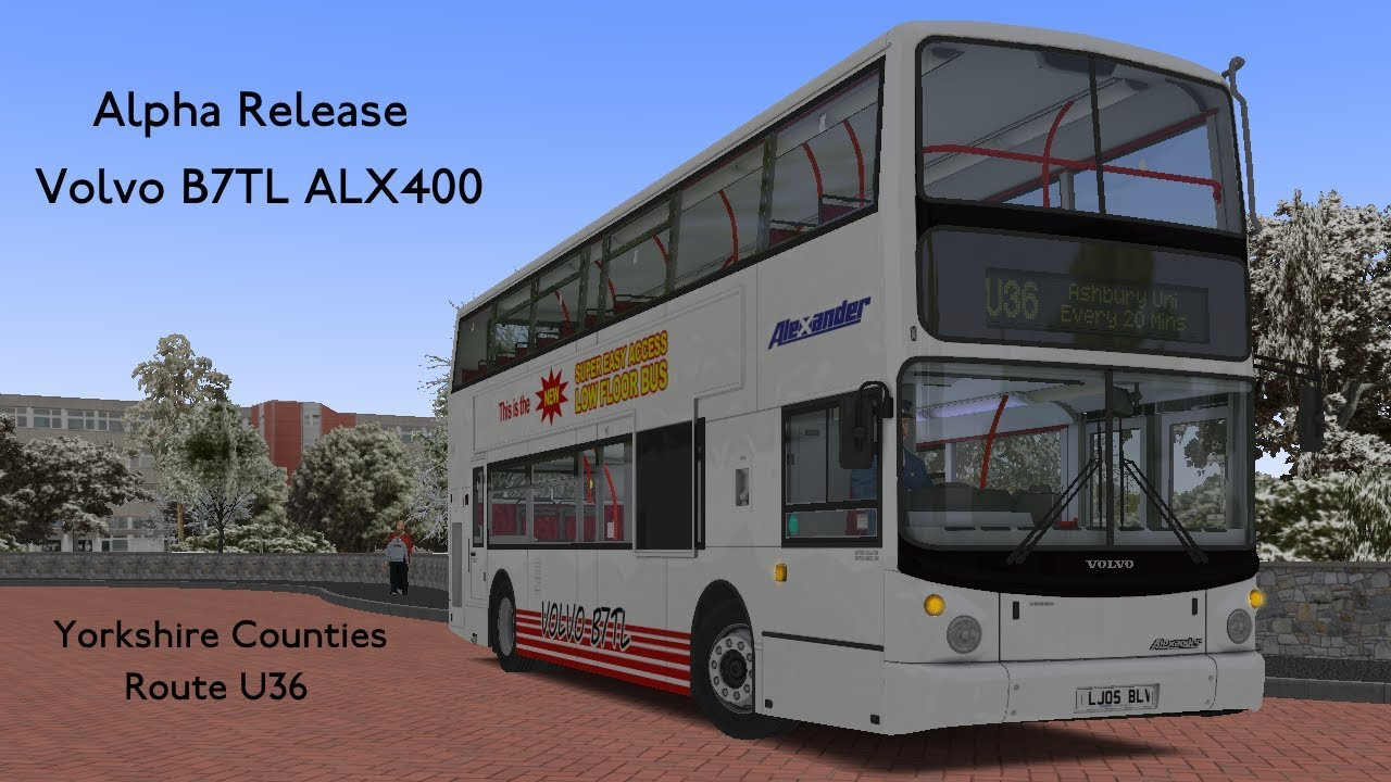 OMSI 2 | Alpha Release : Volvo B7TL ALX400 | Yorkshire Counties (Route U36)