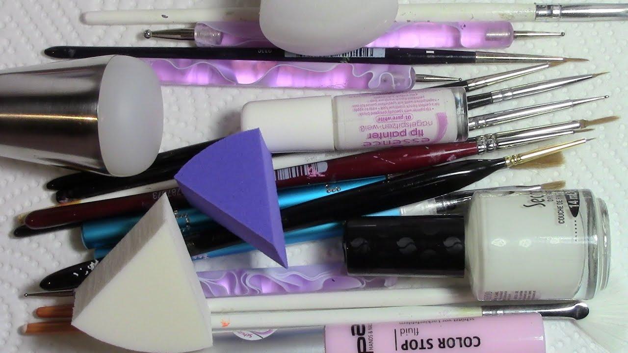 Meine Nageldesign Pinsel & Hilfsmittel / Schwämmchen, Dotting Tool ...