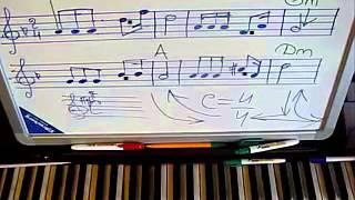 Урок на пианино ТЫ У МЕНЯ ОДНА ноты аккорды
