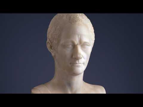 Bust of Alexander Hamilton at Monticello