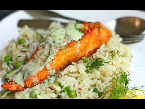 Запеченная красная рыба с рисом: рецепт от Алейки