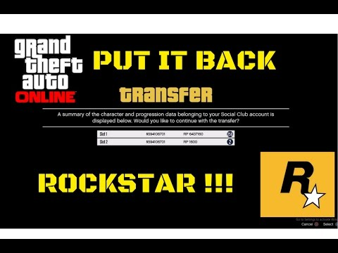 WE WANT YOU BACK !!: GTA Online Character Transfer.