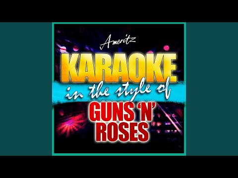 Welcome To The Jungle (In The Style Of Guns N' Roses) (Karaoke Version)