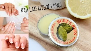 Caring for your nails | Burt's Bees lemon butter cuticle cream review