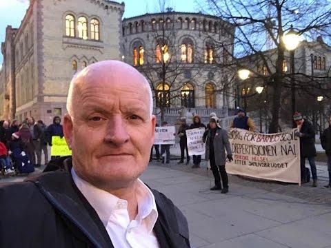Mannsforum demonstrasjon 7.3.2017 Stortinget