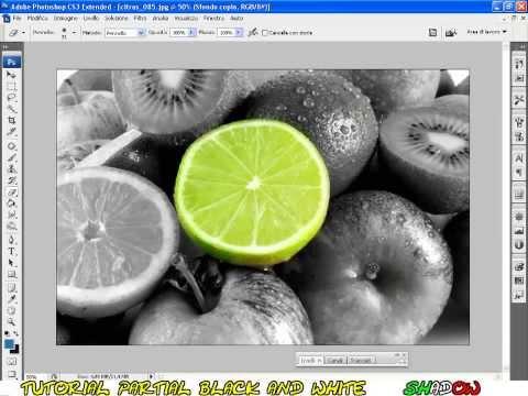 Уроки Фотошопа - цветное на черно-белом!