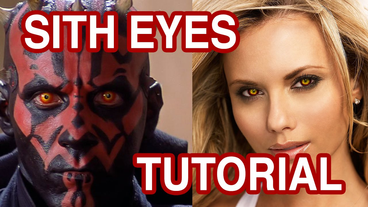 star wars sith eyes tutorial how to photoshop sith eyes youtube