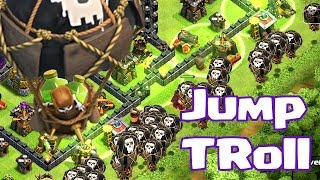 Clash Of Clans - Troll Jump! ( Balloons and jump spells)