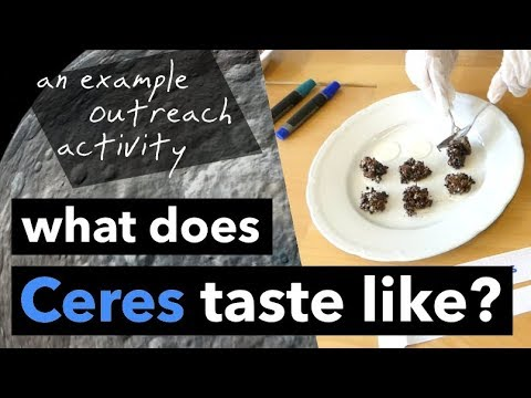 What Does Ceres Taste Like? | an example outreach activity!