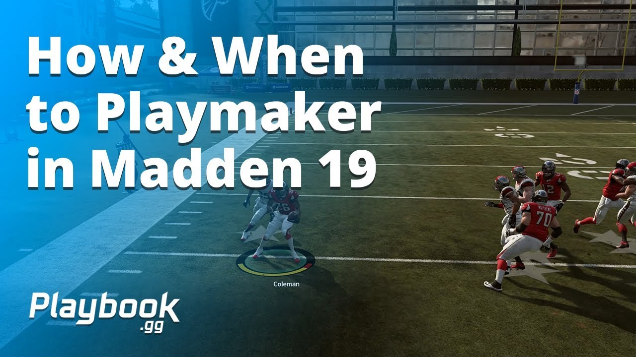 How to Playmaker in Madden 19