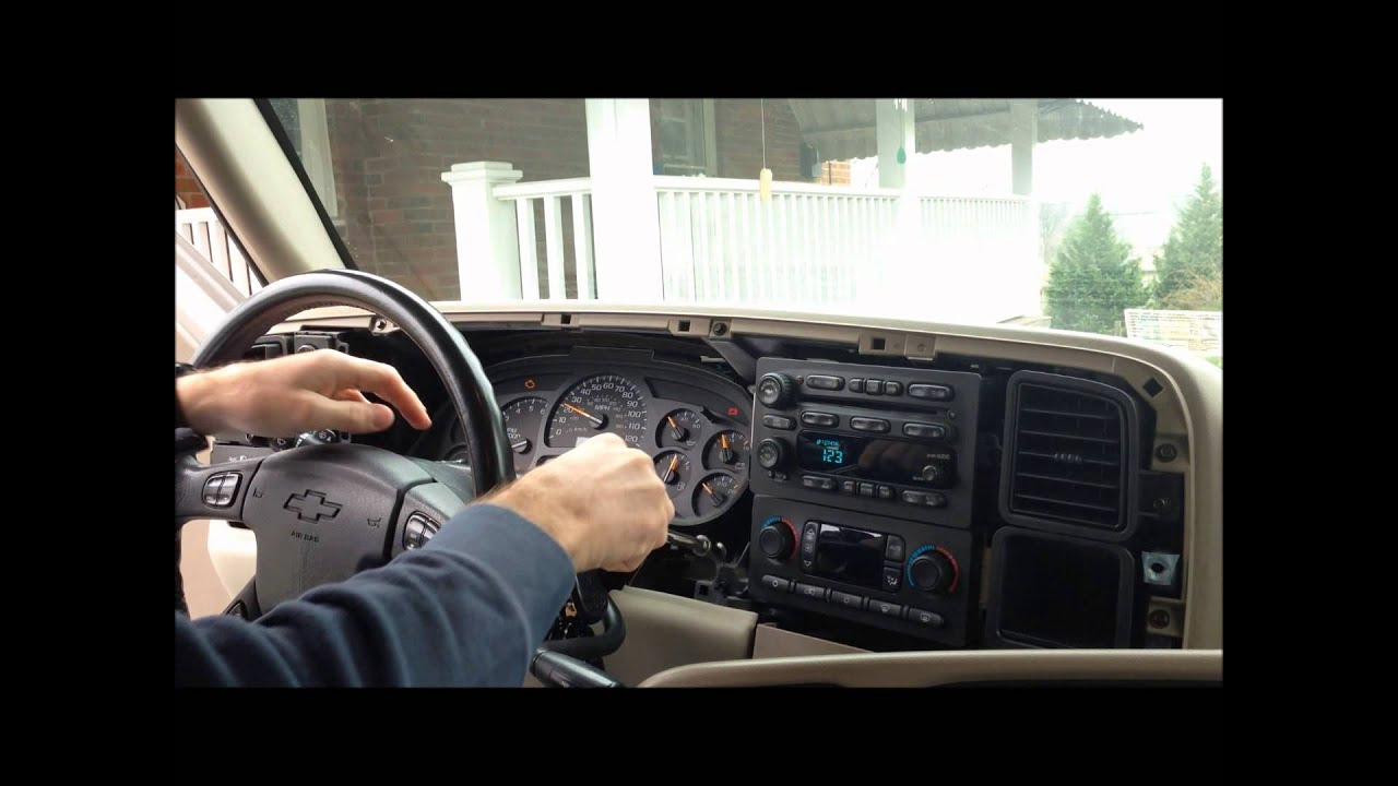 How to remove the instrument cluster from a 2004 tahoe doovi for 2004 silverado stepper motor