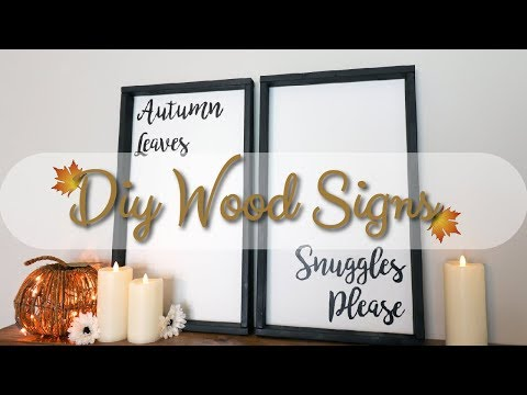 DIY Autumn Quote Wood Signs