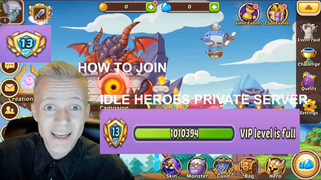 HOW TO JOIN THE IDLE HEROES PRIVATE SERVER