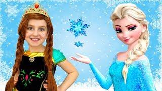 Elsa and Mom Play Kids Salon Princess Dress Up and Makeup   Super Elsa